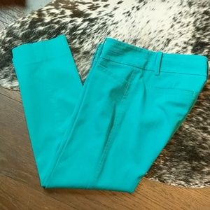 Lilly Pulitzer Teal Crop Pant 0